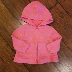 Gymboree unicorn zip up hoodie